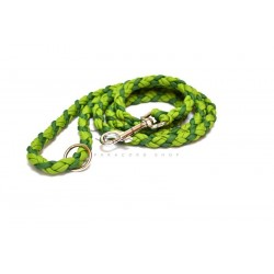 Paracord leash medium - green