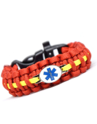 Cordell paracord bracelets with badge